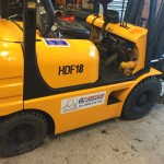 Used orange forklift for sale - FT Services